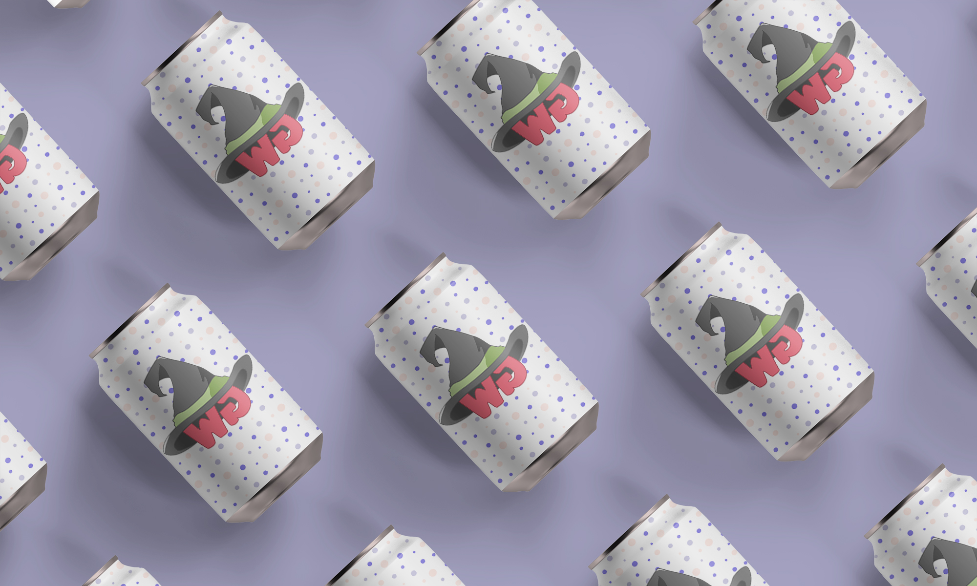 Matte Soda Can Top View Mockup by Anthony Boyd Graphics